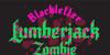 Lumberjack Zombie Font design graphic