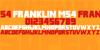 Franklin M54 Font design screenshot