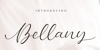 Bellany Font poster