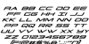 Grand Sport Condensed Italic Font Letters Charmap