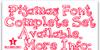 Pijamas Font design graphic