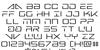 Banshee Pilot Font Letters Charmap