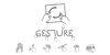 Gesture Font drawing handwriting