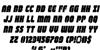 Shogunate Italic Font Letters Charmap