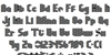 10% Orange Juice Regular Font Letters Charmap
