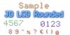 JD LCD Rounded Font screenshot design