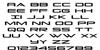 Grand Sport Font Letters Charmap