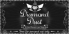 Diamond Dust Font design poster