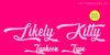 Likely Kitty - Personal Use Font poster