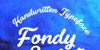 Fondy Script PERSONAL USE ONLY Font handwriting text