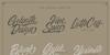 Striped King Clean Font handwriting blackboard