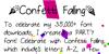 ConfettiFalling Font text screenshot