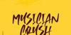 Musician Crush Font poster