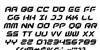 New York Escape Italic Font Letters Charmap