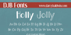 DJB Holly Jolly Font text book
