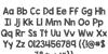 KG Blank Space Sketch Font Letters Charmap