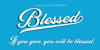 Blessed Personal Use Font design screenshot