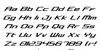 Concielian Classic Font Letters Charmap