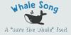 DK Whale Song Font cartoon design