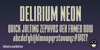 FTY DELIRIUM NCV Font screenshot typography