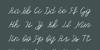 Olster Font handwriting blackboard