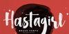 Hastagirl One DEMO Font poster text