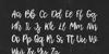 Shamber Font handwriting blackboard