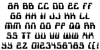 1968 Odyssey Font Letters Charmap