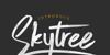 Skytree Font design handwriting