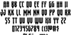 Gotharctica Extra-Expanded Font Letters Charmap