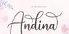 Andina Font poster