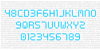 Digital cognitive Font abstract parallel