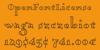 Dagerotypos Font screenshot handwriting