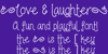 Love and laughter Font text blackboard