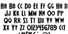 Wolf's Bane II Expanded Font Letters Charmap