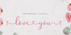 Loveyou Font poster