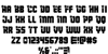 Army Rangers Regular Font Letters Charmap