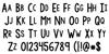 KG Modern Monogram Plain Font Letters Charmap