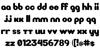 New LiteBulb Font Letters Charmap