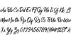 RolleteQaku-Regular Font Letters Charmap