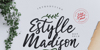 Estylle Madison Font handwriting typography