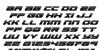 Speed Phreak Italic Font Letters Charmap