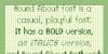 Round About Font screenshot text