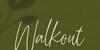Walkout Font poster