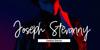 Amarilis Script Font screenshot electric blue