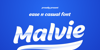 Malvie Font screenshot design
