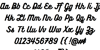 Bukhari Script Font Letters Charmap
