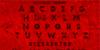 Zilap Horror Font red carmine