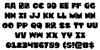 Zounderkite Font Letters Charmap