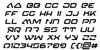 4114 Blaster Italic Font Letters Charmap